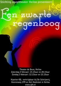 Poster Zwarte regenboog